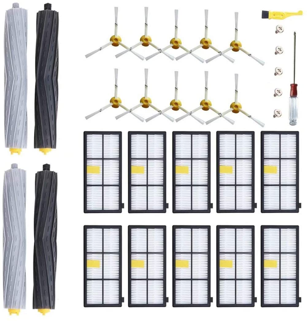 MZY LLC Replenishment Kit for iRobot Roomba 800 900 Series 805 860 870 871 880 890 960 980 Robotic Replacement Accessory Kit,Replacement Parts with 29 Pcs