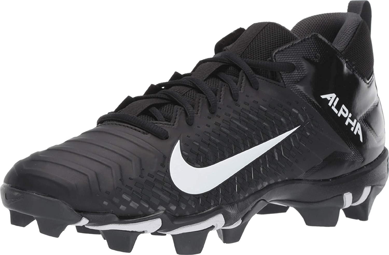 Nike Men's Alpha Menace 2 Shark Football Cleat Black/White/Anthracite Size 8.5 M US