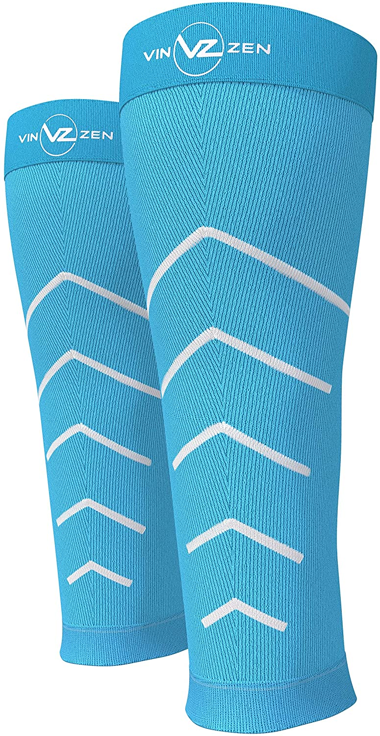 Calf Compression Sleeve Toeless Socks - Improve Circulation for Shin Splint- Best Footless Leg Support Sleeves for Calves - Calf Pain Recovery - Calf Guard for Running, Cycling, Maternity, Travel
