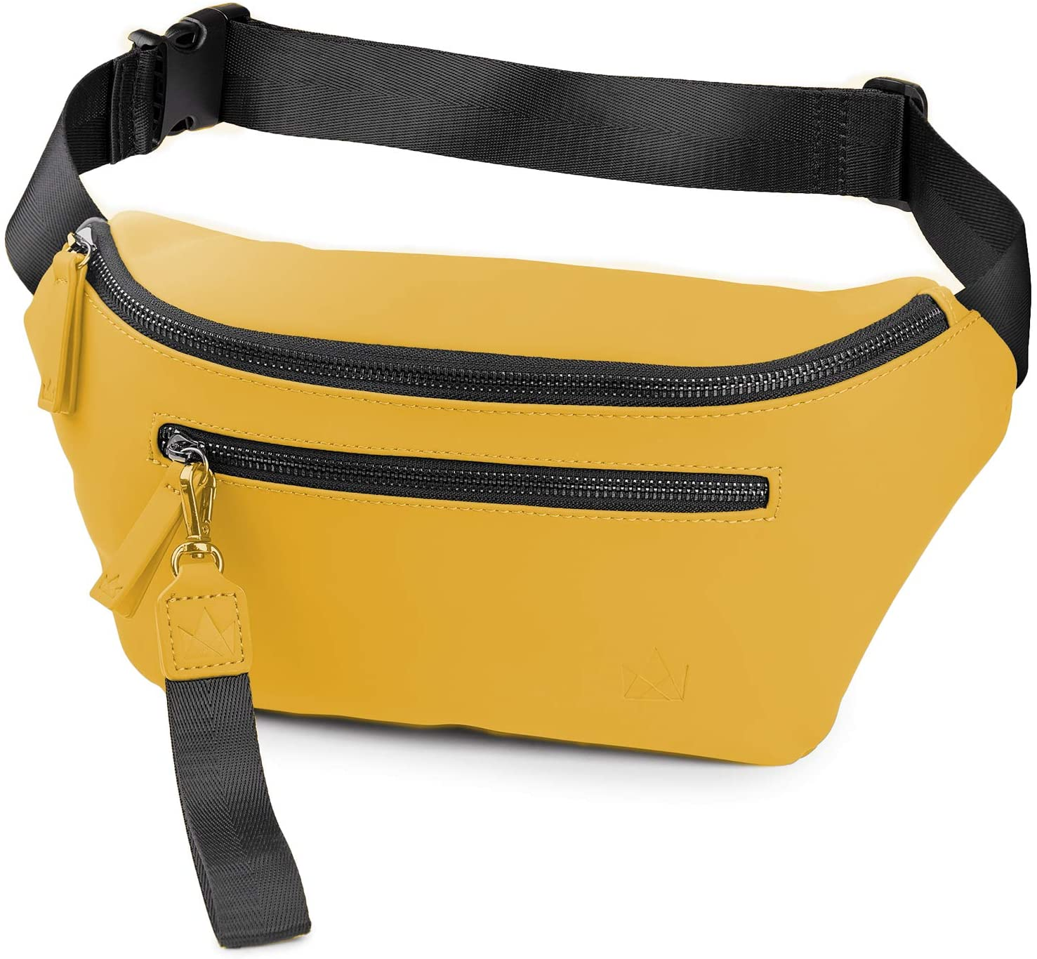The Friendly Swede Fanny Pack for Men and Women - Fashion Crossbody Bag - Waist Bag Travel Pouch, VRETA (Matte Yellow)