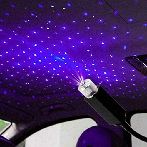 Auto Roof Star Projector Night Lights,Adjustable Romantic Galaxy USB Night Lamp Fit All Cars Ceiling Decoration Light,Flexible Interior Car Night Lights(Blue-Violet Light)