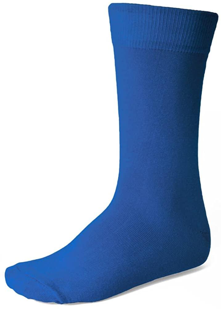 TieMart Men's Blue Socks