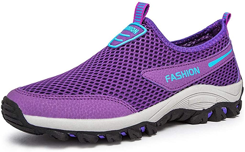 MIOKE Womens Lightweight Mesh Water Shoes Slip On Running Trail Hiker Casual Non-Slip Outdoor Hiking Shoes