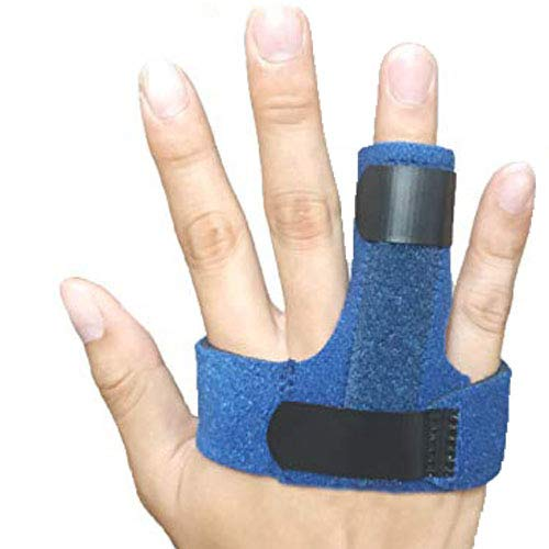 Trigger Finger Splint, Finger Knuckle Support Brace, Adjustable Brace for Straightening Curved, Bent, Locked and Mallet Finger Pinky,Thumb,Ring,Index(Right)