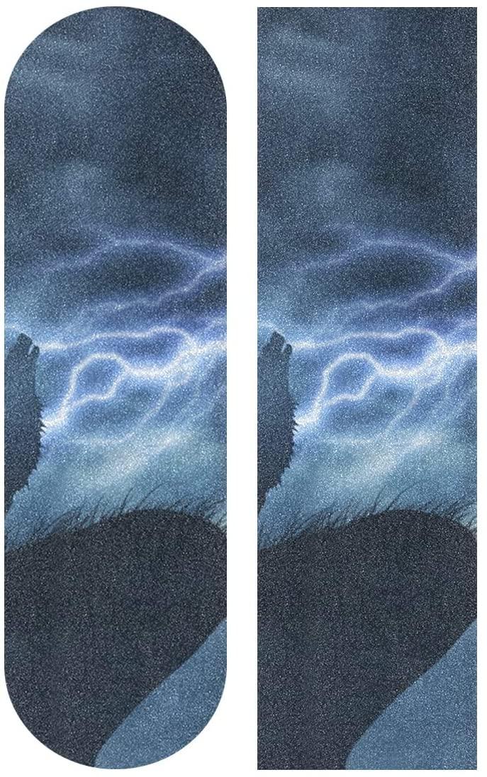 senya Skateboard Grip Tape Wolf Longboards Griptape Sandpaper for Rollerboard