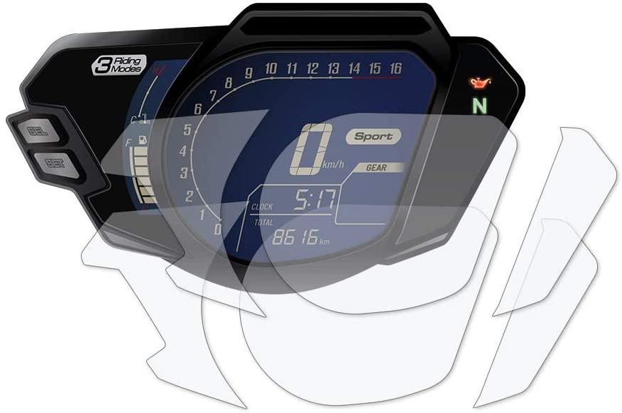 Speedo Angels SAHO2211 Dashboard Screen Protector for Honda CBR250RR (2019+), 1 x Ultra Clear & 1 x Anti Glare