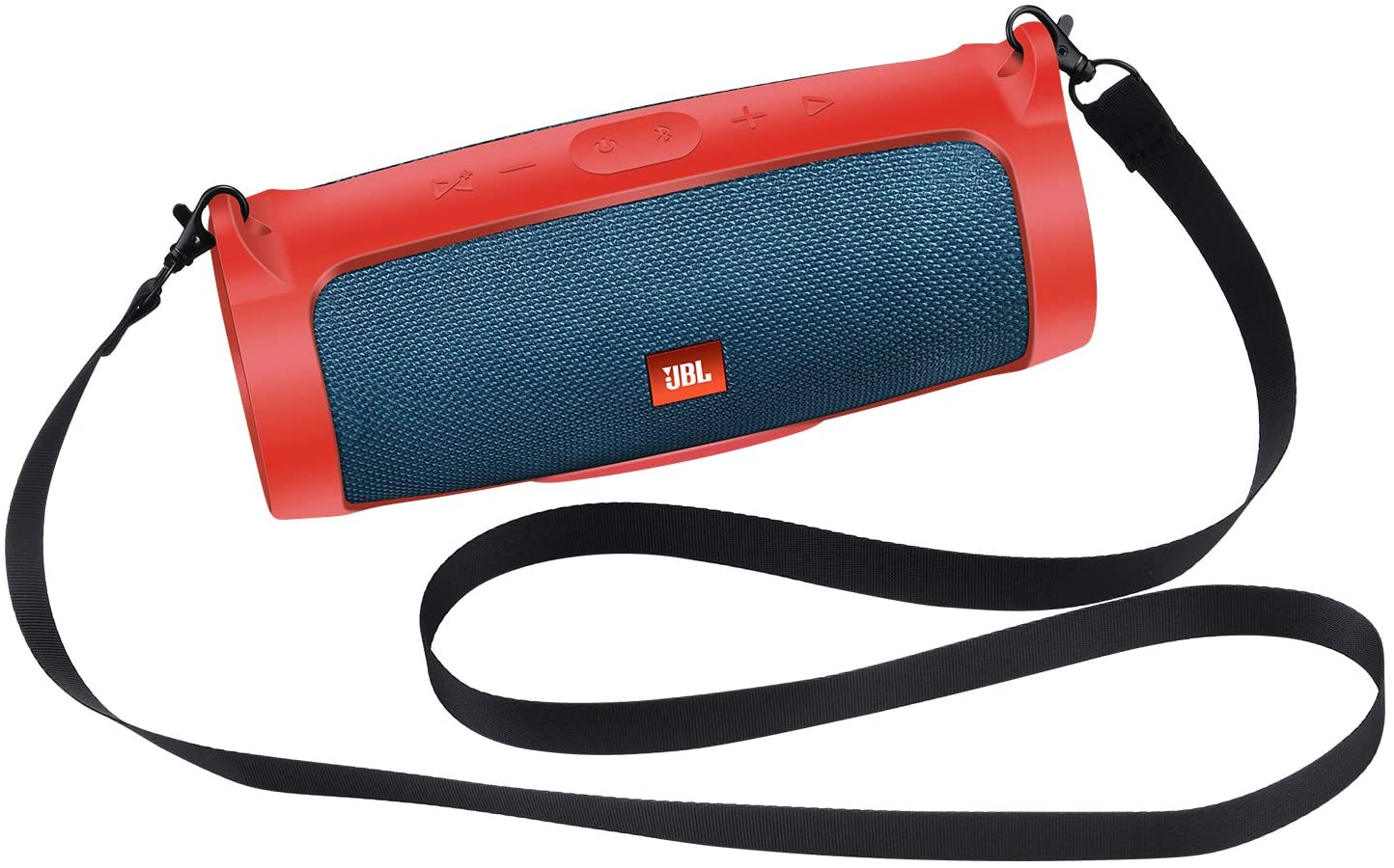 JBL Charge 4 Replacement Silicone Protective Sling Cover Travel Carrying Storage Case for JBL Charge 4 Portable Bluetooth Speaker (Silicone Red)