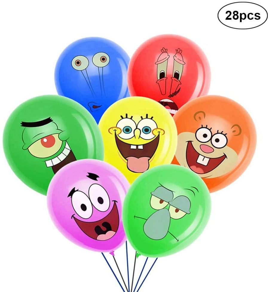 KUKIFUN 28PCS SpongeBob Balloons, 12
