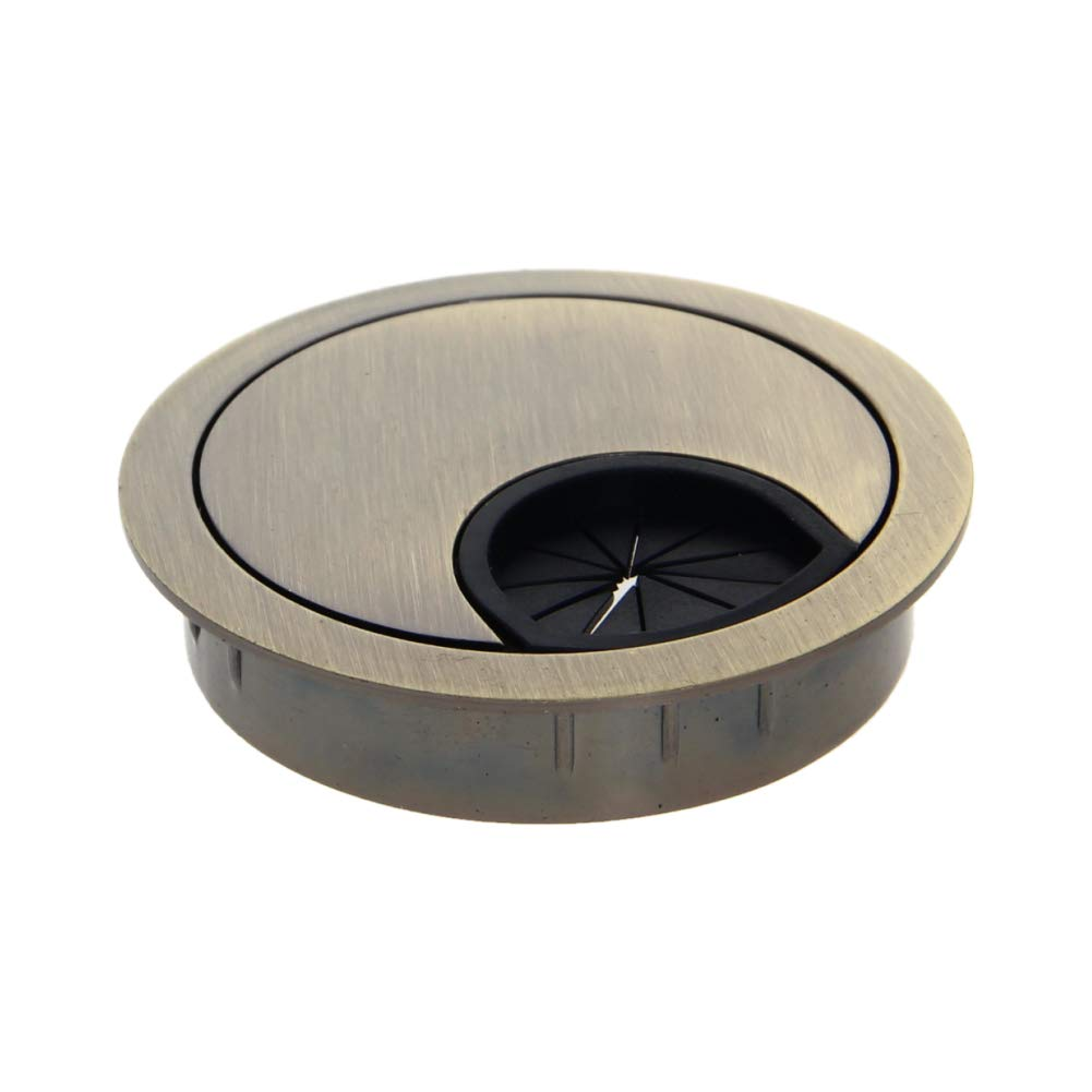MroMax 1pcs 51mm Desk Cable Hole Cover Grommet for Managing and Hiding Wire Cord Cable Hole Organizer Bronze