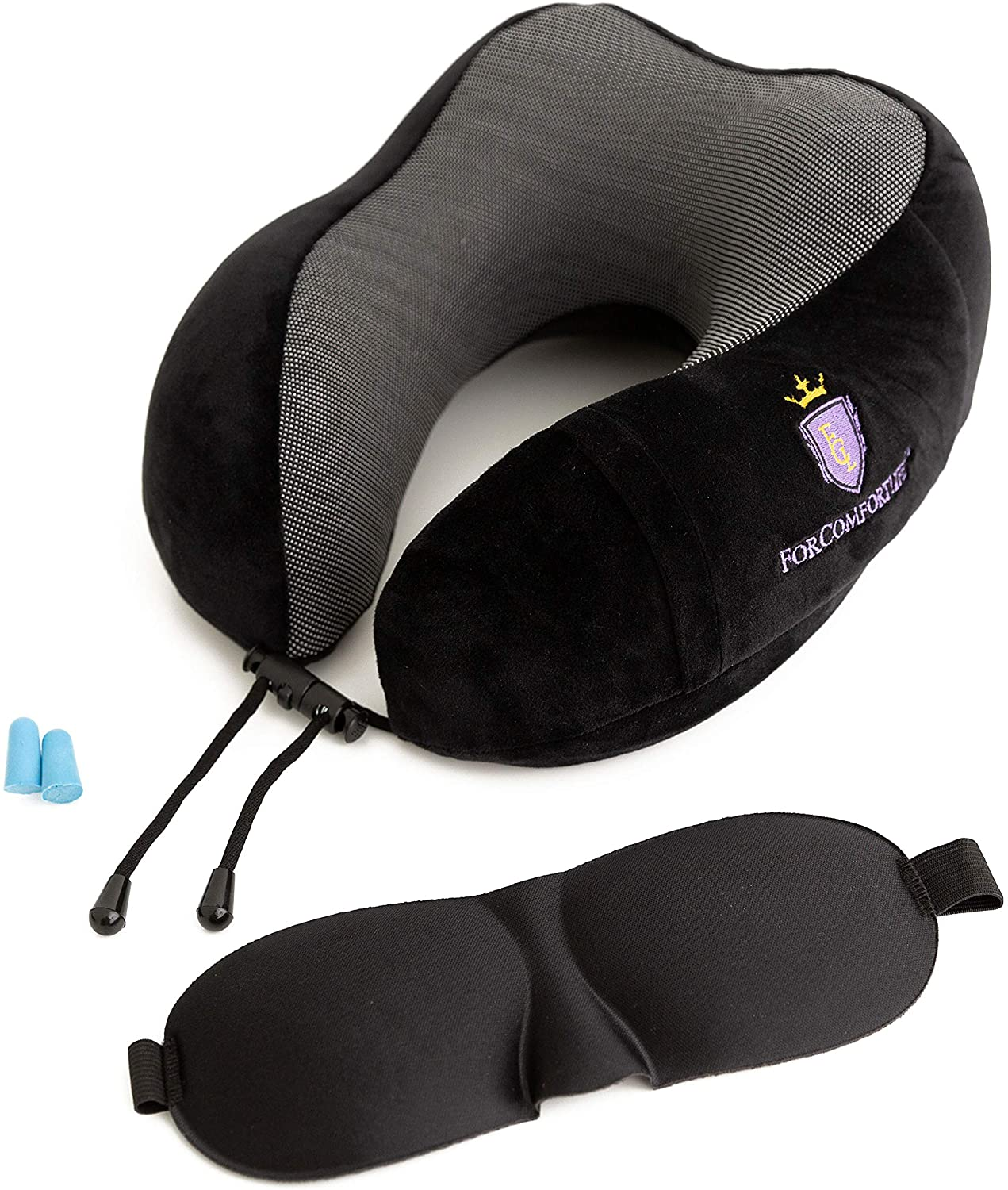 ForComfortLife Neck Pillows for Traveling - Ideal Travel Neck Pillows with Memory Foam and Neck Rest Pillow Travel kit - Machine Washable Travel Neck Pillow
