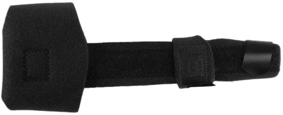 Cimenn Thumb Splint Brace, Adjustable Finger Immobilizer Finger Brace Support for Mallet Or Trigger Finger Extension, Soft Tissue Injuries, Lightweight and Breathable (Black)