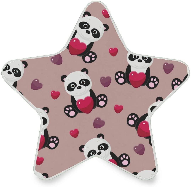 LED Night Light Star ShapeUltra-Slim, and Cool-Touch Dusk to Dawn Sensor Night Lamp Panda Seamless Kids Adults and Nursery Decor Night Light