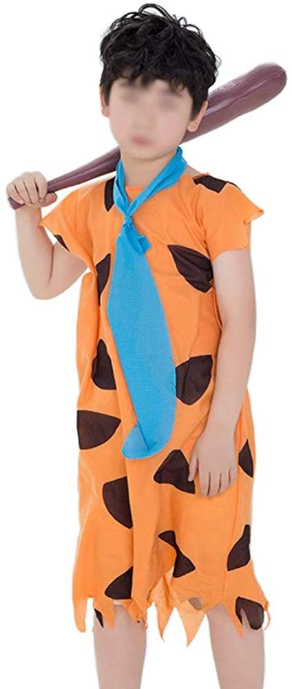 Kids Savage Costume Caveman Cosplay Set for Halloween Birthday Party Dress Up