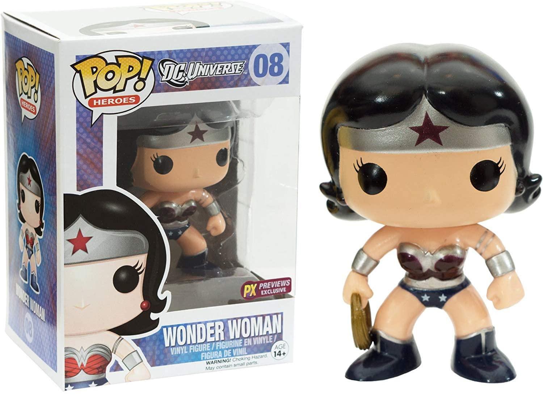 Funko Wonder Woman [New 52] (PX Exclusive) POP! Heroes Vinyl Figure & 1 POP! Compatible PET Plastic Graphical Protector Bundle [#008 / 03029 - B]