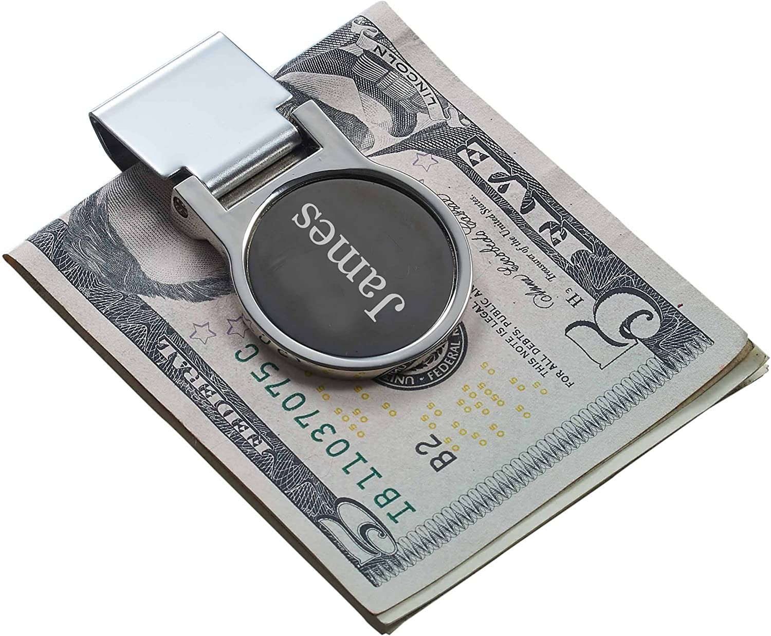 Personalized Visol Origin Gunmetal Money Clip with free engraving
