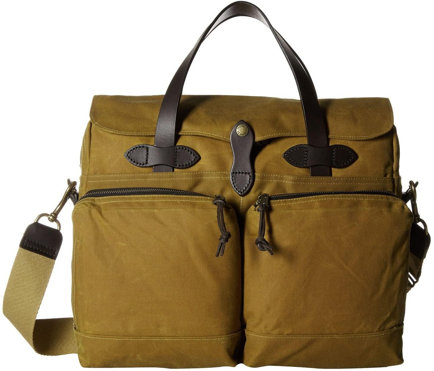 Filson 24 Hour Tin Briefcase Dark Tan One Size