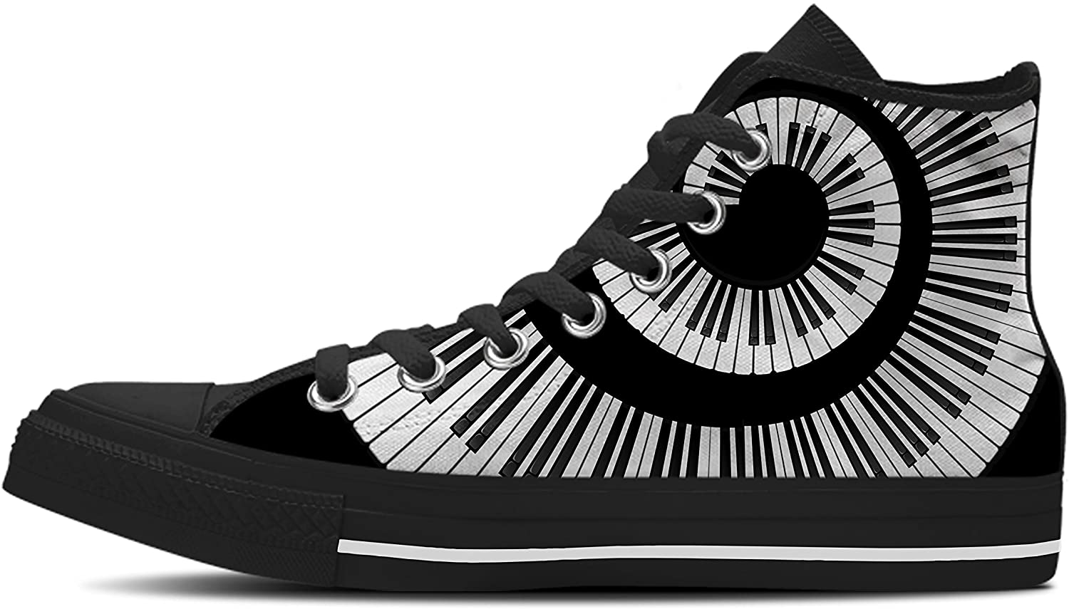 Gnarly Tees Women's Piano Spiral Shoes High Top