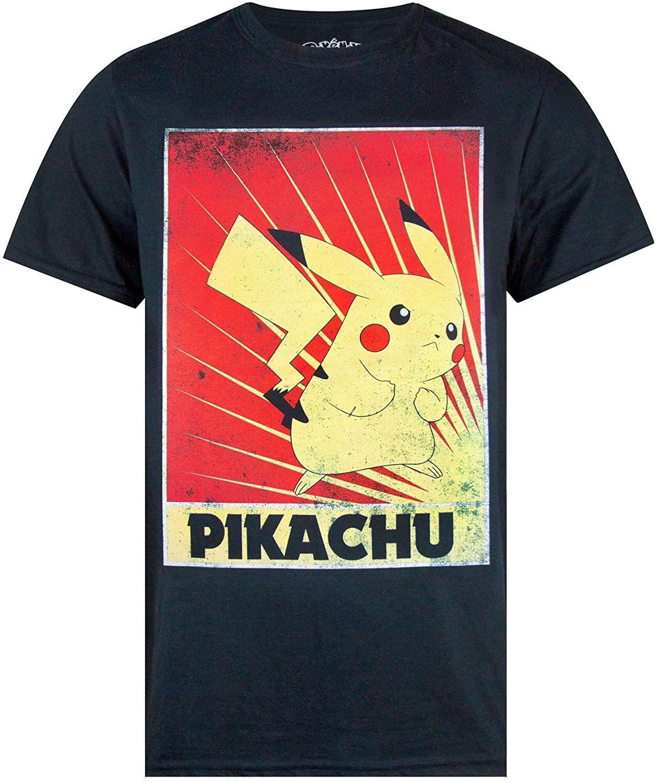 Official Pokemon Pikachu Propaganda Poster Men's T-Shirt