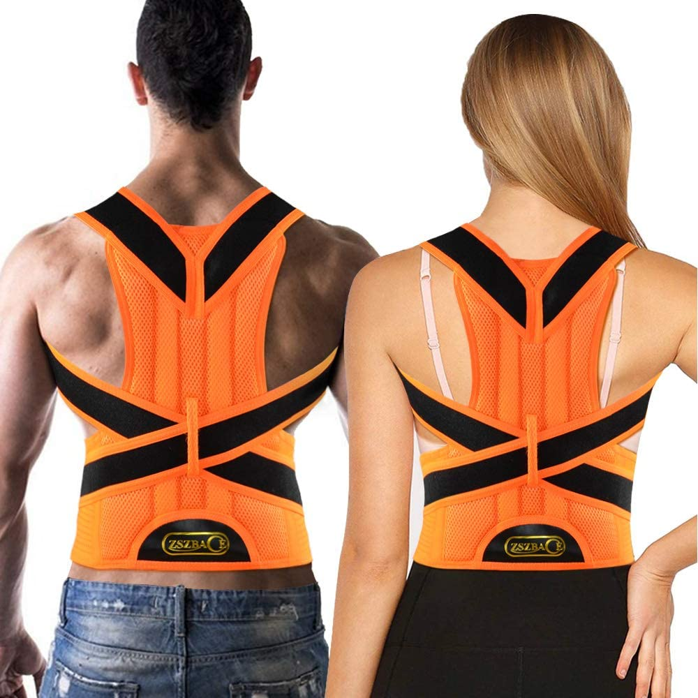 Back Brace Posture Corrector for Women and Men Back Lumbar Support Shoulder Posture Support for Improve Posture Provide and Back Pain Relief (M)