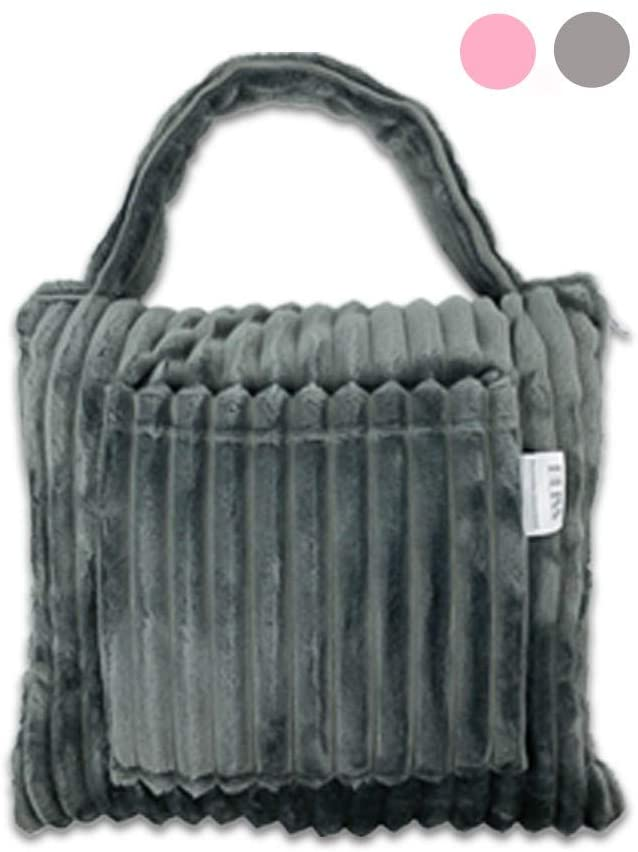 BLISS Bundle Blanket Deluxe Compact Blanket – Soft Pillow Blanket- Plush Extra Long with Shoulder and Luggage Strap - Packable Travel Blanket with Bag- Blanket for Plane Travel (Gray)