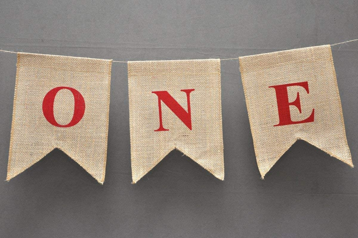 ONE High Chair First Birthday Burlap Banner Nautical Cake Smash Photo Prop Party Theme Décor Shabby Chic Birthday decoration banner this elegant Highchair Hessian banner is made out of cardstock