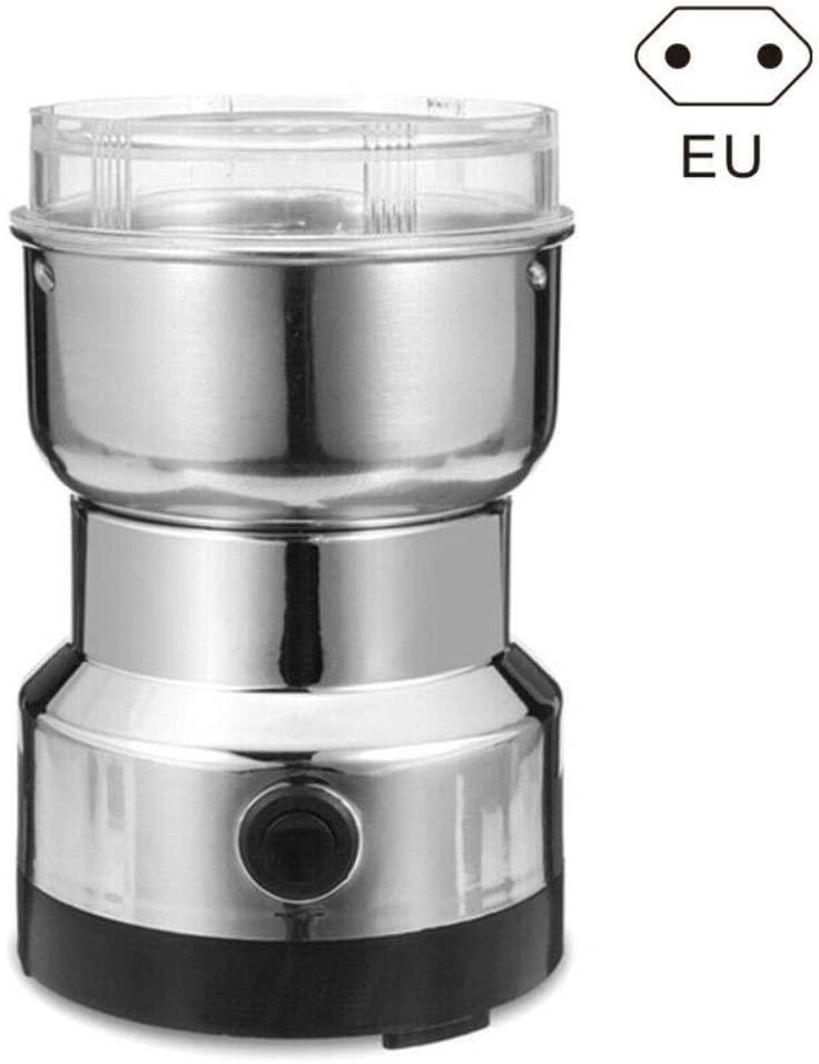 Coffee Grinder Electric, Mini Multifunction Smash Machine Electric Coffee Bean Grinder Nut Spice Househol,EU Plug