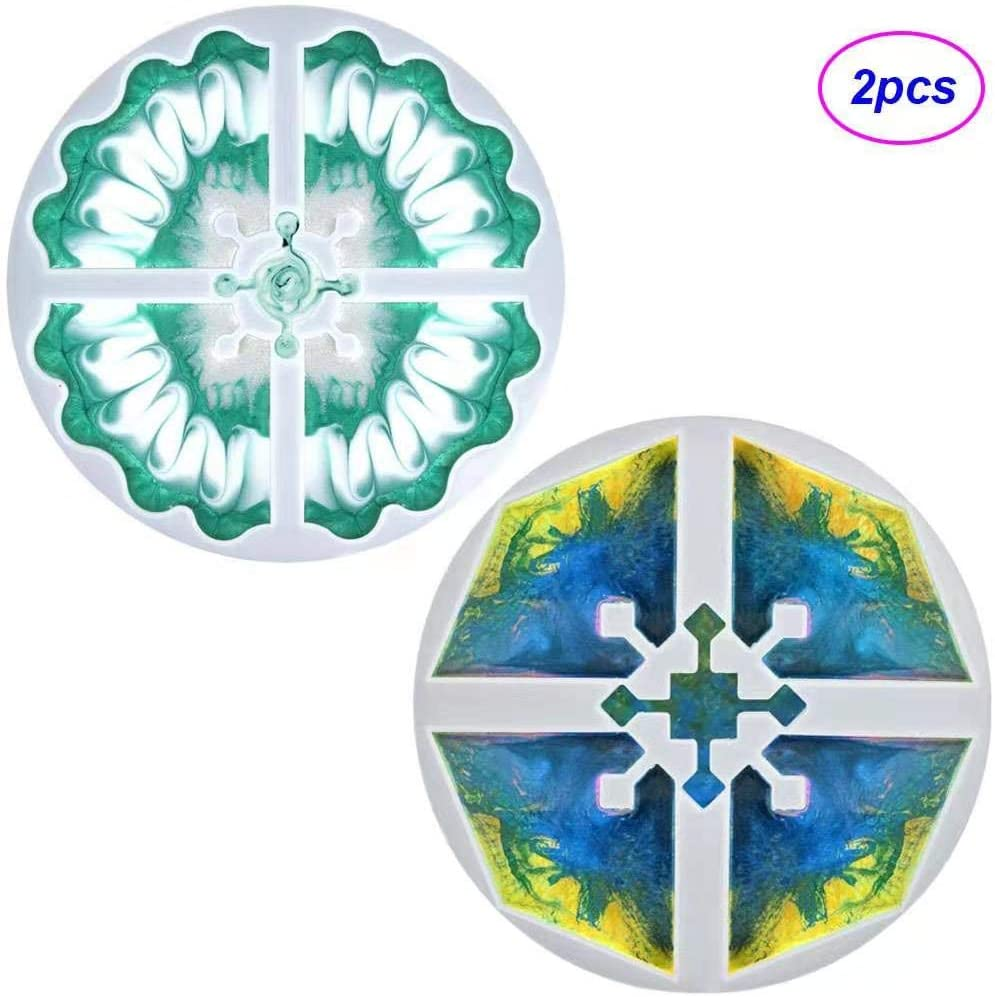 JIUCHANG Silicone Resin Coaster Molds, Interlocked Puzzle Coaster Molds, Irregular Epoxy Resin Mold for DIY Resin Agate Geode Slice Coasters, Jewelry Holders Dish, Pendant Making, Home Decoration