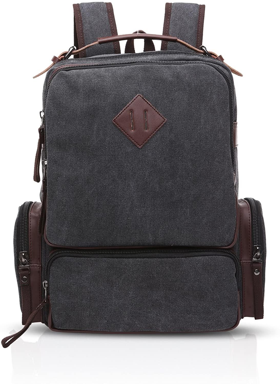 FANDARE Casual Backpack Men Business Multi-pocket Daypack Breathable Canvas
