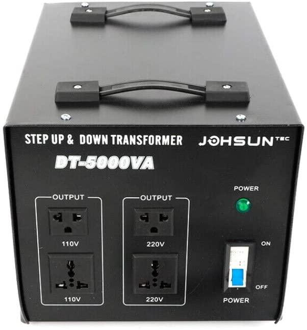 Voltage Converter Transformer Adapter, Step Up/Down Electric Power Converter 110V to 220V, 220V to 110V (5000W)