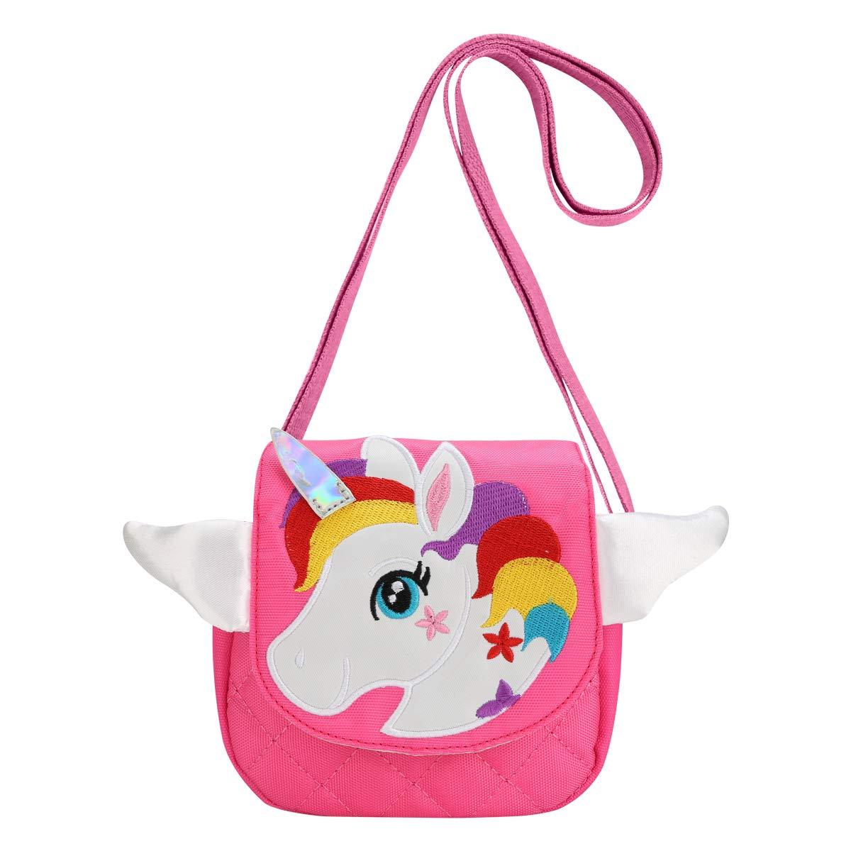 DEEKEY Little Girls Purses for Kids - Toddler Mini Cute Princess Handbags Shoulder Messenger Bag Toys Gifts Crossbody Purse