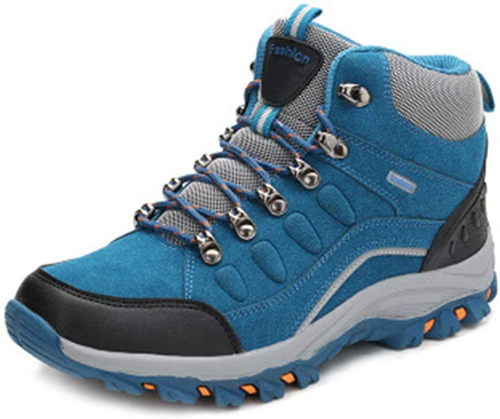MIOKE Women's Waterproof Hiking Boots Casual Running Trail Hiker High-top Non-Slip Outdoor Climbing Shoes
