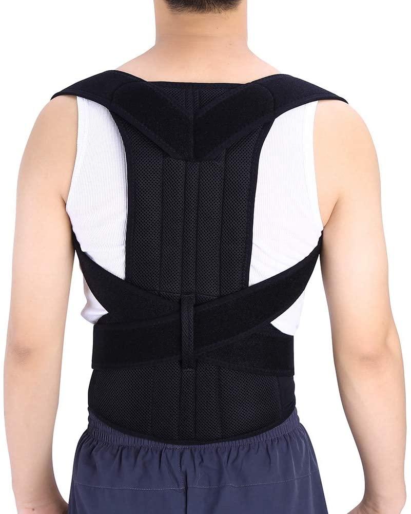GOTOTOP Posture Corrector for Men and Women,Back Posture Brace Support,Providing Neck, Back, Shoulders,Waist Pain Relief Adjustable and Breathable Brace Posture Correction Belt,XXL