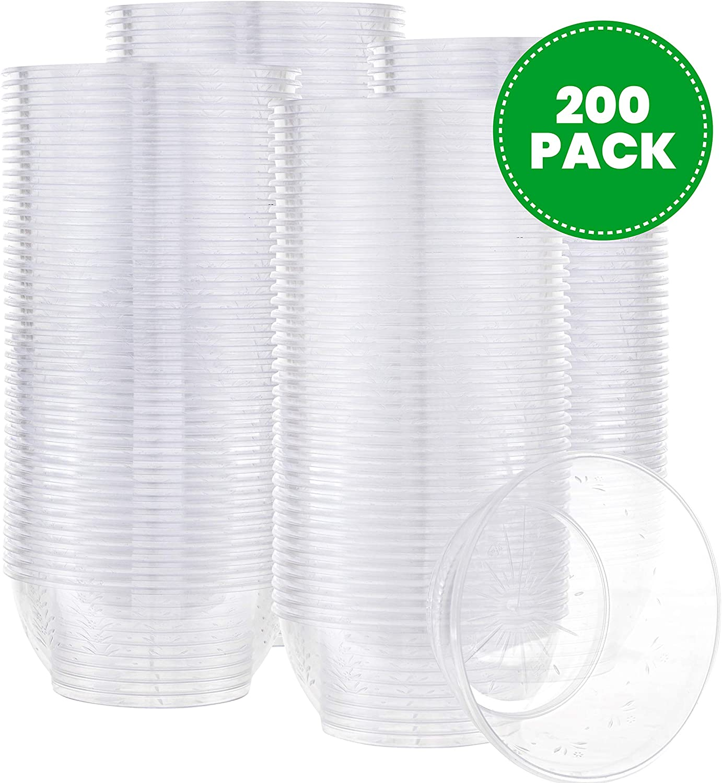 Plasticpro 6 oz Hard plastic Desert Bowls - Ice cream Bowls premium Quality Disposable Clear Bowl Pack of 200