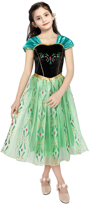 Gessliy Princess Dress Snow Party Dress Queen Costume Princess Cosplay Dress Up