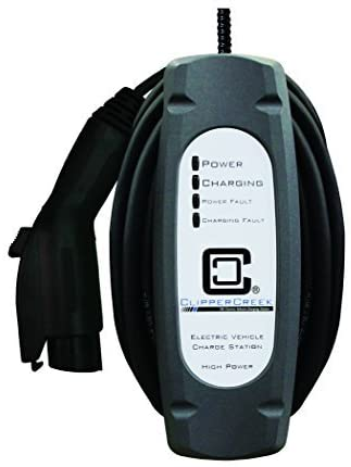ClipperCreek LCS-20, 240V, 16 Amp, Level 2 EV Charging Station, Hardwired, 25 Ft Cable, Safety Certified, Made in America