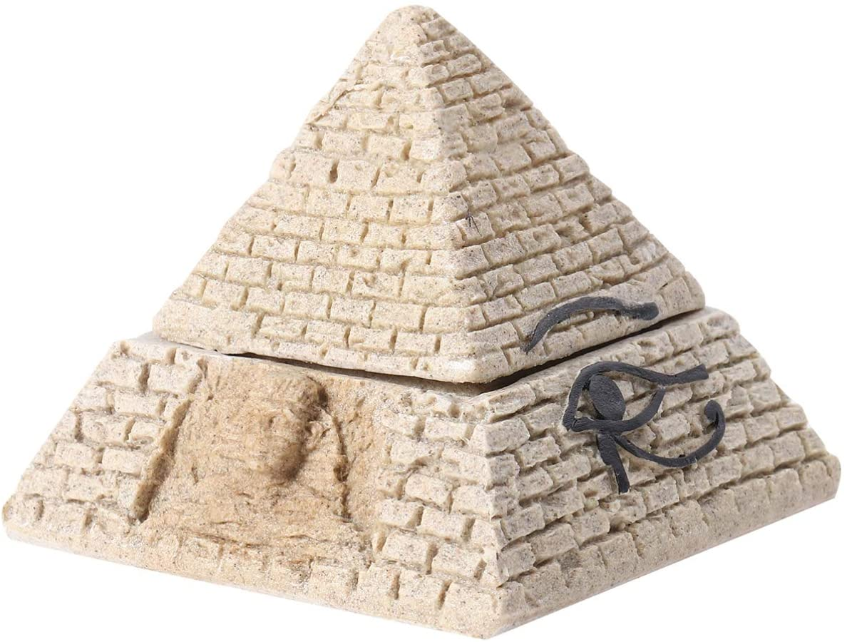 VOSAREA Egyptian Pyramid Box Jewelry Trinket Box Decorative Pyramid Trinket Storage Box Jewelry Container Figurine Statue for Home Decor Crafts Gifts