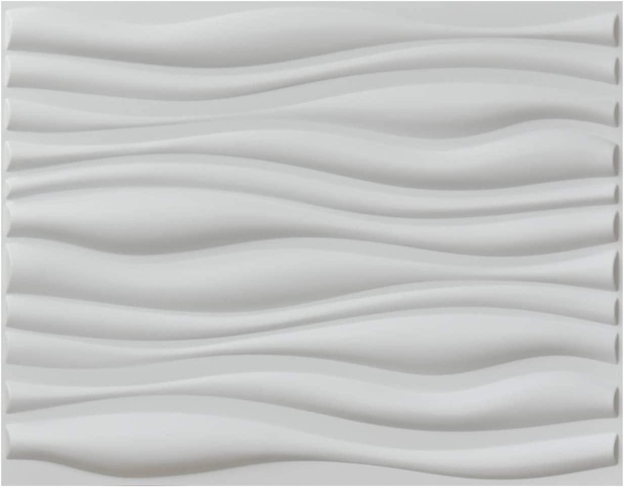 Art3d Decorative 3D Wall Panels Big Wave Deisgn, 31.5