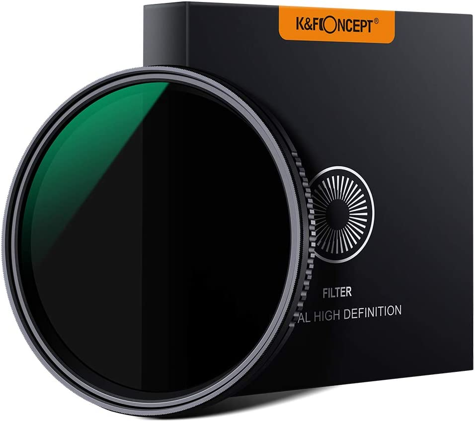 K&F Concept 52mm Variable Neutral Density ND8-ND2000 ND Filter for Camera Lenses with Multi-Resistant Coating, Waterproof