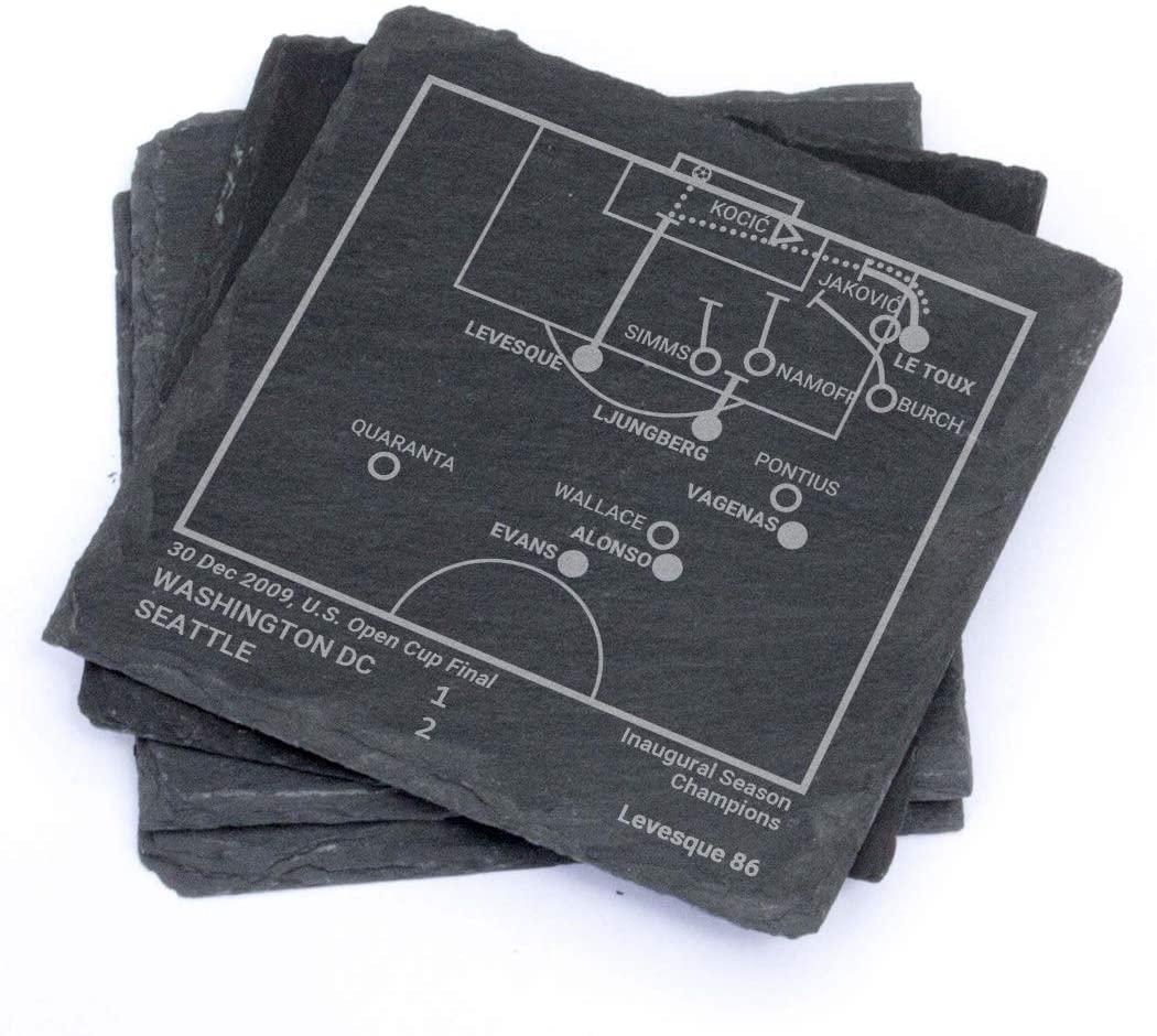 Greatest Sounders Plays - Slate Coasters (Set of 4)
