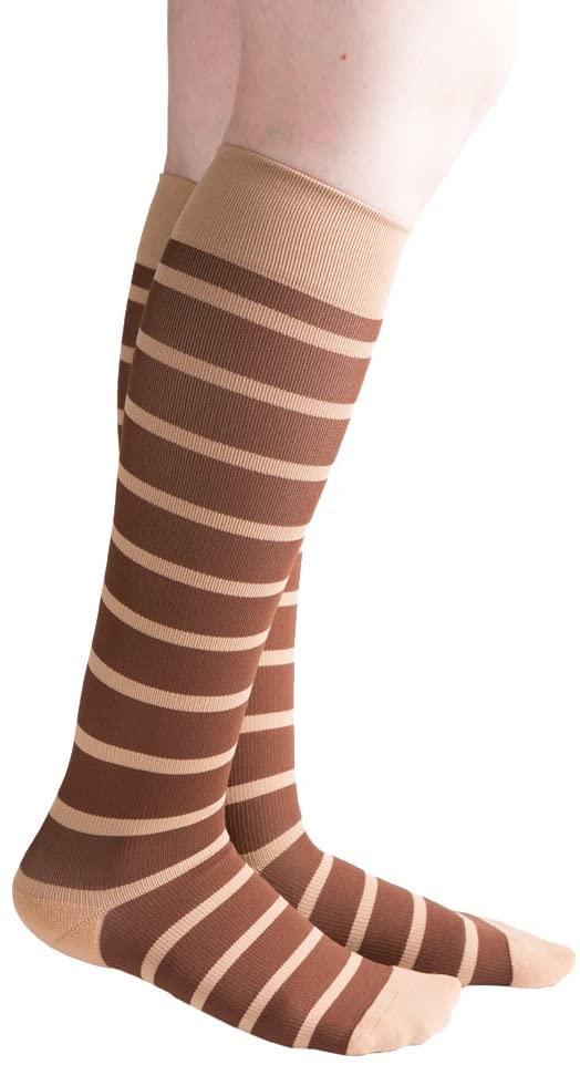 VenaCouture Womens 15-20 mmHg Compression Socks, Bold Candy Stripe Pattern