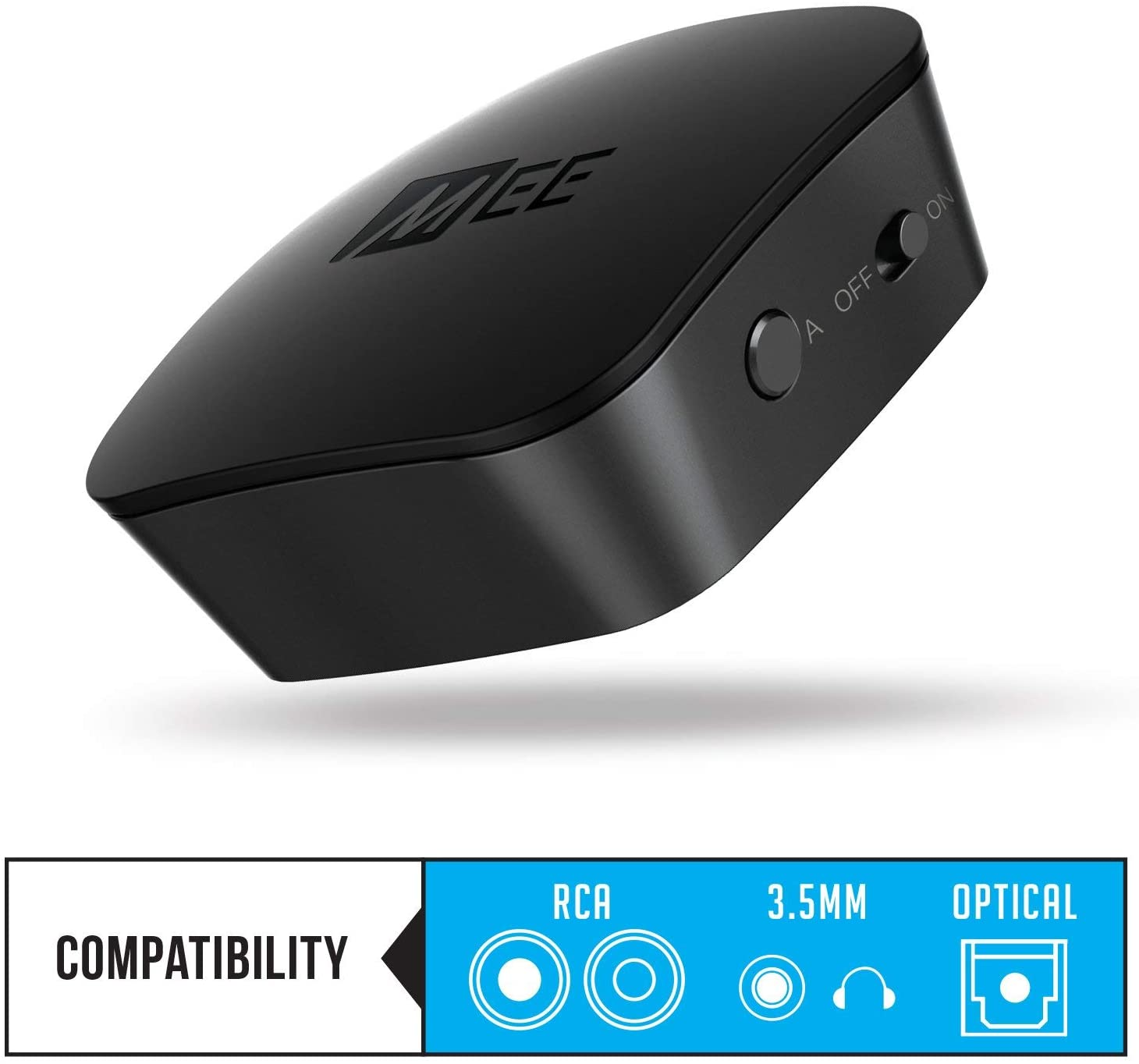 MEE audio Connect universal Bluetooth wireless audio transmitter for up to two headphones / speakers with aptX Low Latency technology for TVs and other devices