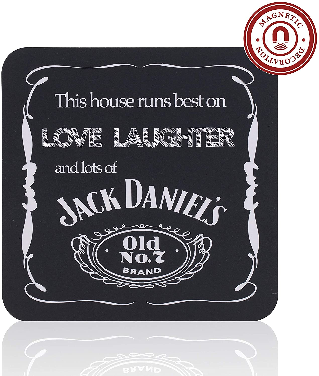 Multifunctional Magnetic Pad, Funny Drink Coaster, Double-Sided Refrigerator Magnet & Bar Décor, Magnetic Dry Erase Notepad with Motivational Message - Stylish Gift for Men