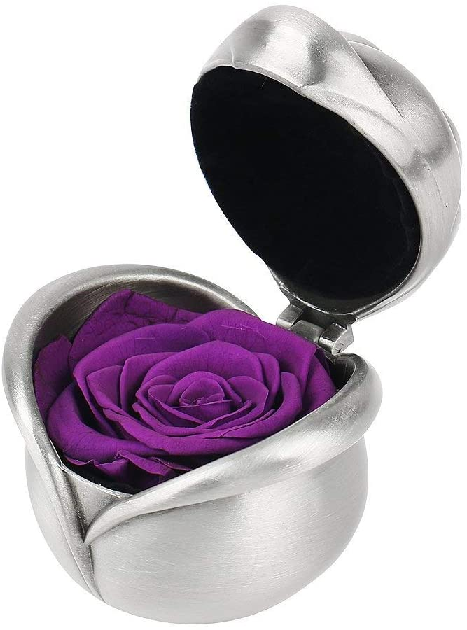 HQQD Best Gifts for Women,Preserved Flower Rose,Never Withered Roses,Upscale Immortal Flowers,Gifts for Women,Her,Girls,Sister, Mother's Day,Valentine's Day,Anniversary,Birthday,Wedding (Purple Rose)
