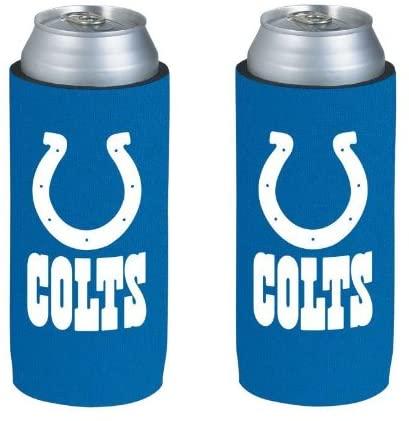 NFL Football Team Logo Ultra Slim Beer 12oz Can Holder Coolers - 2-Pack