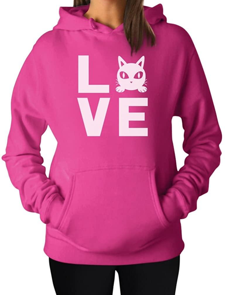 TeeStars - Cat Love for Cat Lovers - Cute Women Hoodie