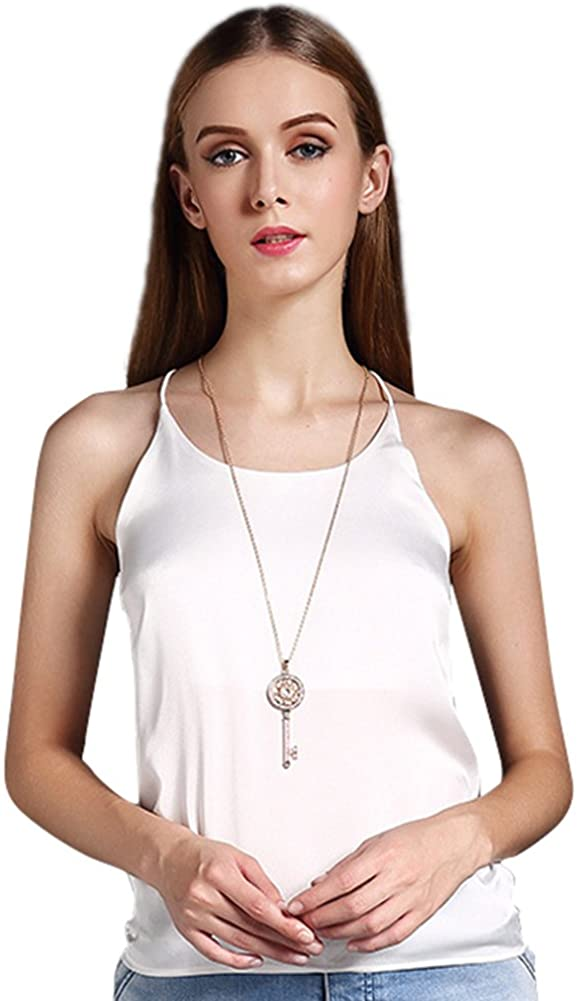 Colyanda Women's Tank Top Silky Loose Camisole Shirt in Many Colors