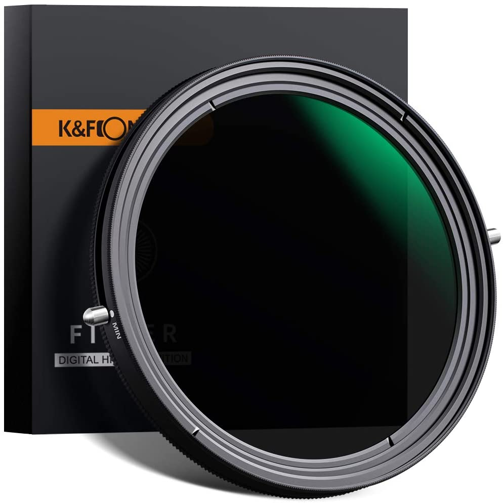 K&F Concept 49mm Variable Fader ND2-ND32 ND Filter and CPL Circular Polarizing Filter 2 in 1 for Camera Lens No X Spot Weather Sealed