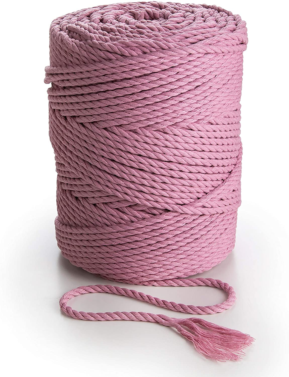 Dusty Pink Macrame Rope 4mm Soft Cotton Cord 492 feet Thick Macrame String for Plant Hangers Wall Art