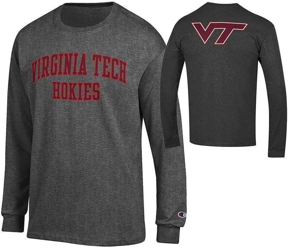 NCAA Men's Front/Back Dark Heather Long Sleeve Tshirt
