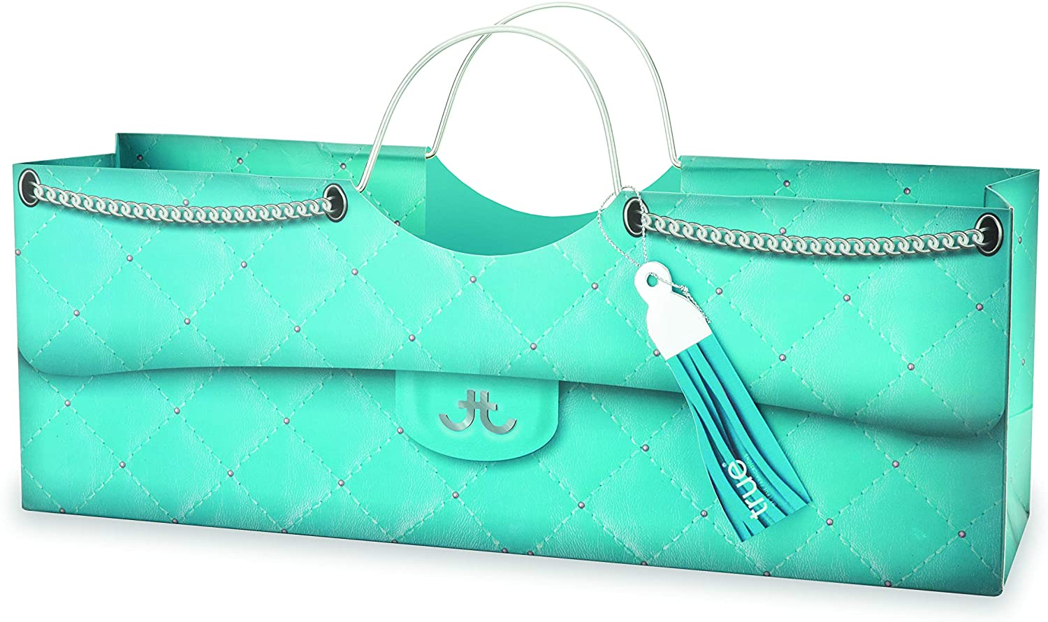 Cakewalk Turquoise Quilted Wine Purse Bag, Blue,